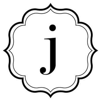 "Monogram Scallop ""j"" Mix and Match Stamp Design by Three Designing Women"