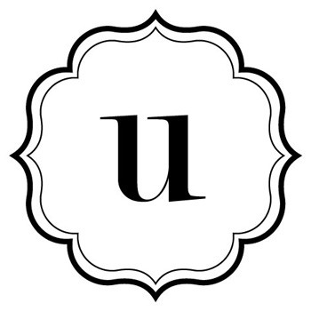 "Monogram Scallop ""u"" Mix and Match Stamp Design by Three Designing Women"