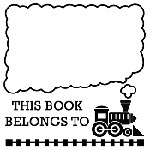 Train Belongs Mix and Match Stamp Design by Three Designing Women