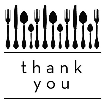 Utensils Thank You Mix and Match Stamp Design by Three Designing Women